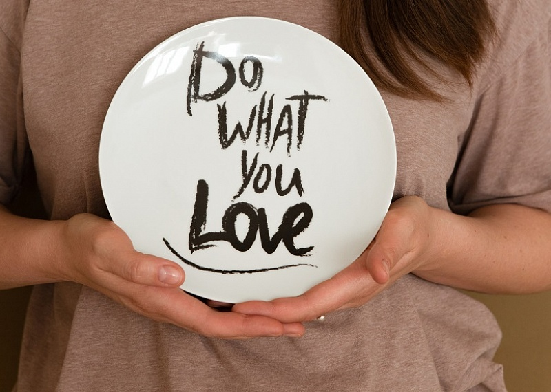Тарелка Do what you love 20 см